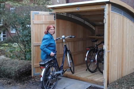 Fahrradhaus, Gartenhaus aus Lärche