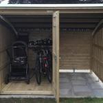 Fahrradhaus mit Kaminlager