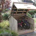 Fahrradgarage, praktische kompakte Garage für Fahrrräder
