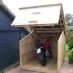 Motorradgarage5 praktische Garage für Motorräder